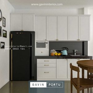 Buat Kitchen Set Semi Klasik Warna Putih Casa Jardin Cluster Dianella Cengkareng id4011P